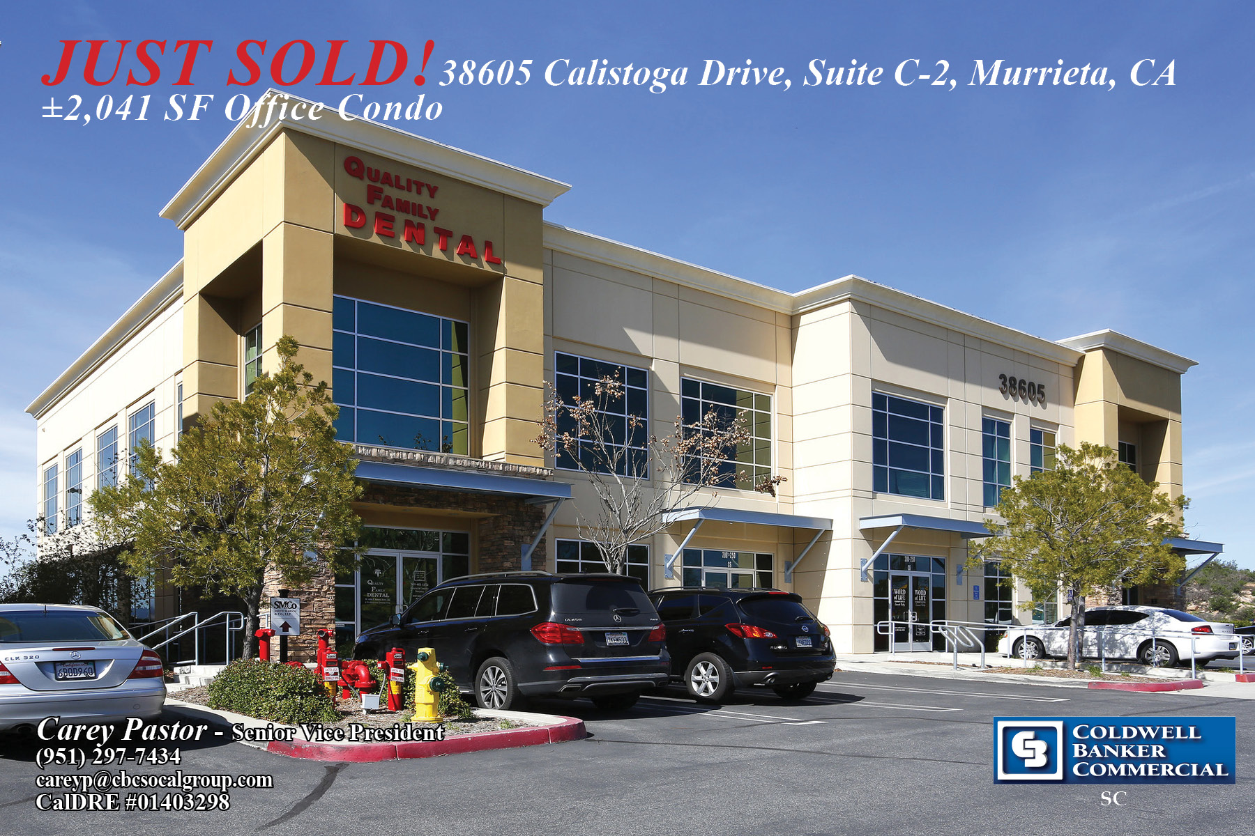 SOLD! ±2,041 SF Office Condo in Murrieta