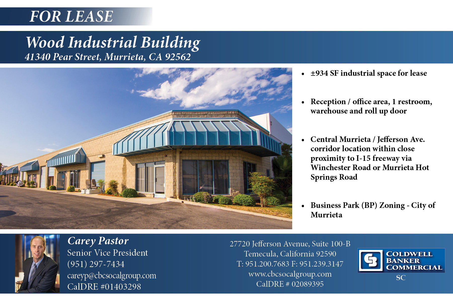 FOR LEASE! ±934 SF Industrial Space in Murrieta