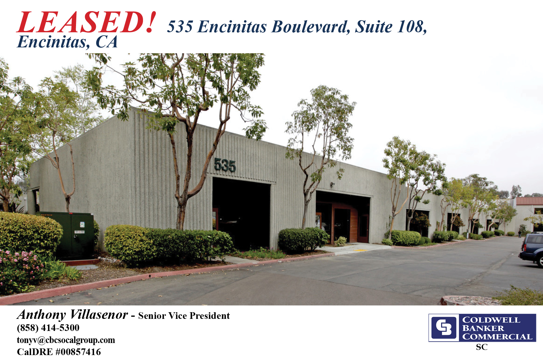 LEASED! ±847 SF Office Space in Encinitas