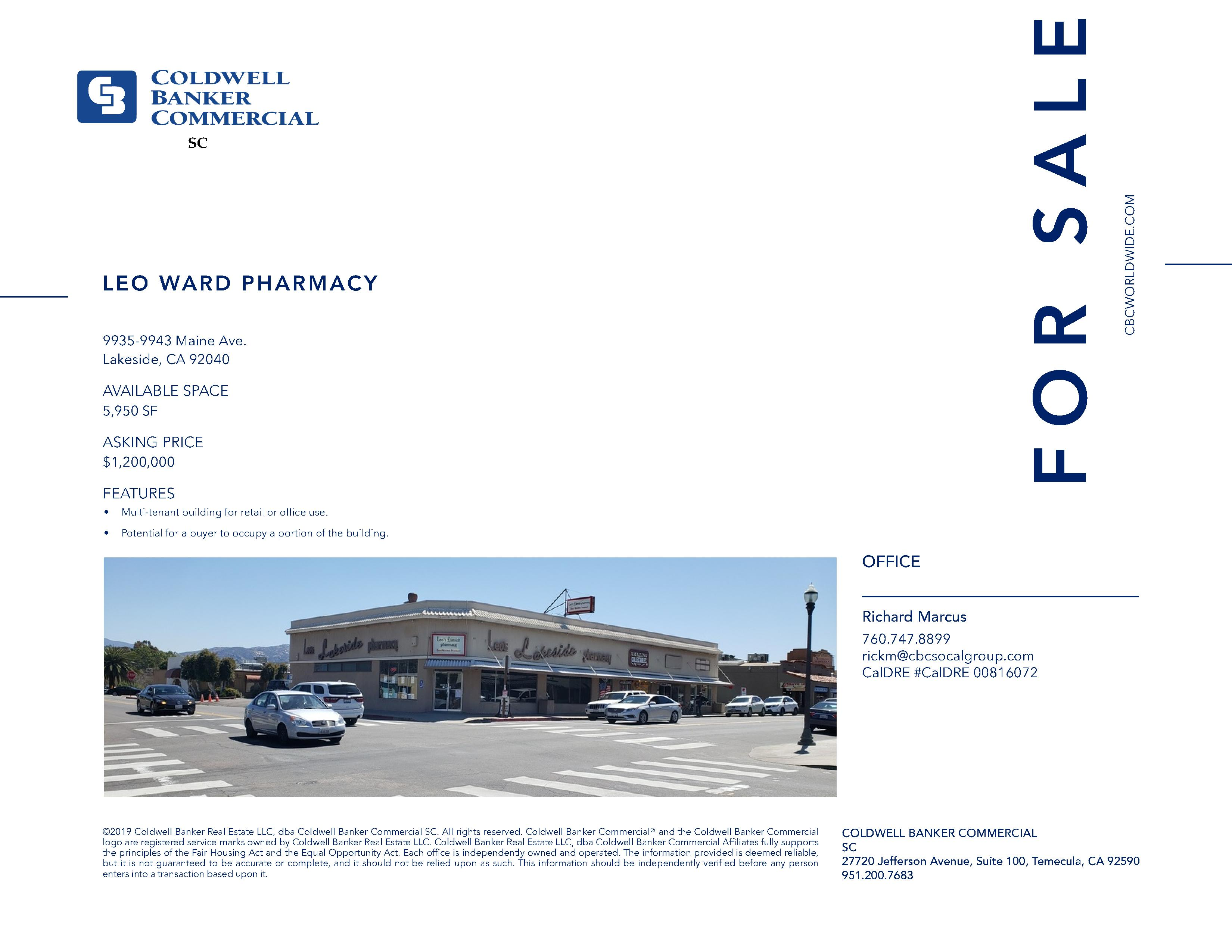 FOR SALE! ±5,950 SF Retail/Office Space in Lakeside