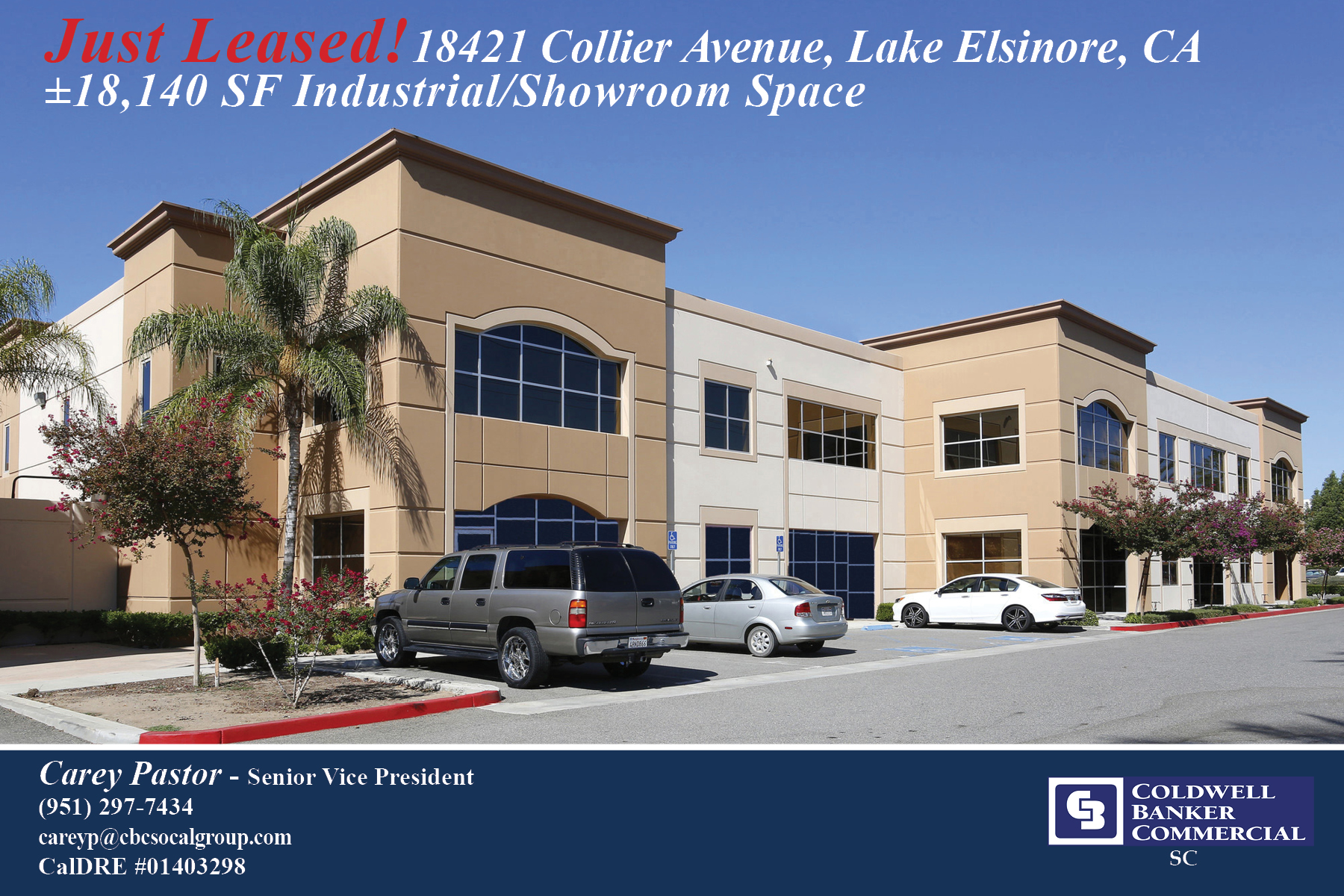 LEASED! ±18,140 SF of Industrial / Showroom Space in Lake Elsinore