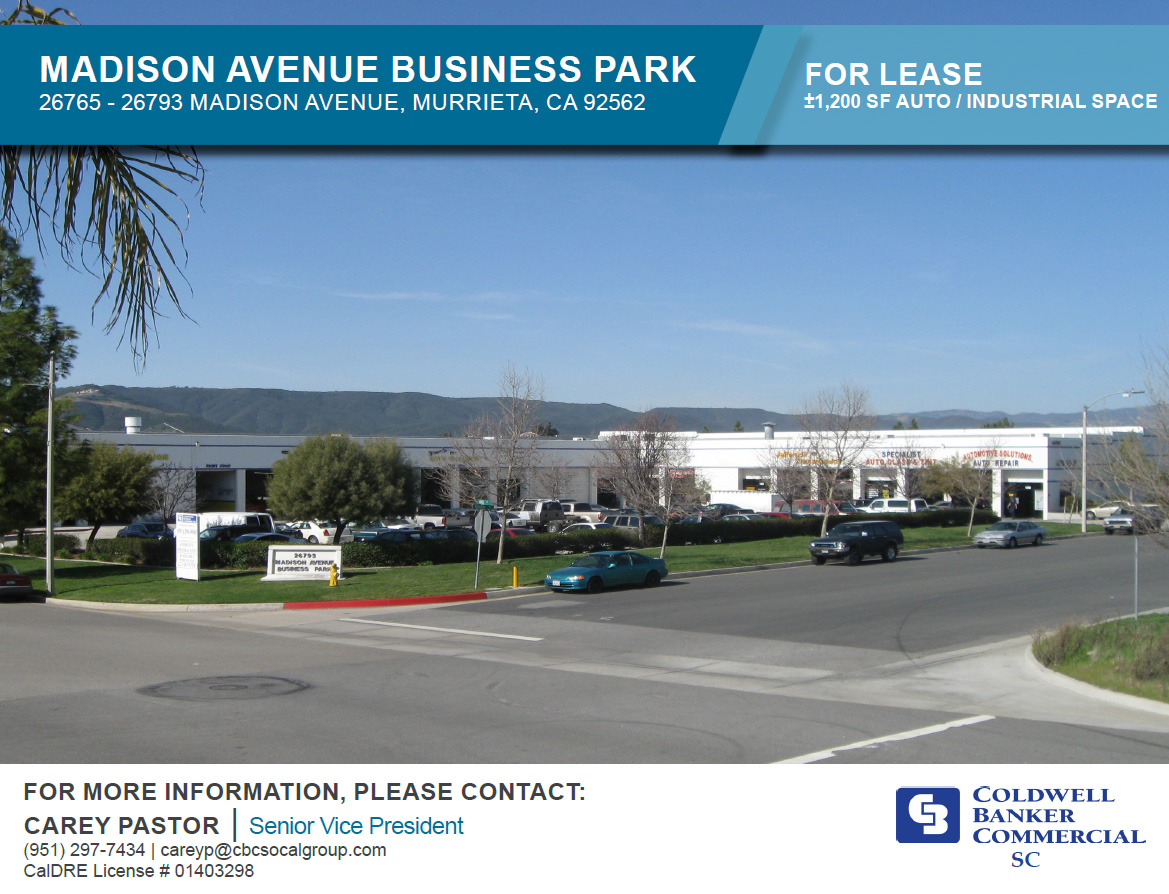 FOR LEASE! ±1,200 SF Auto/Industrial Space