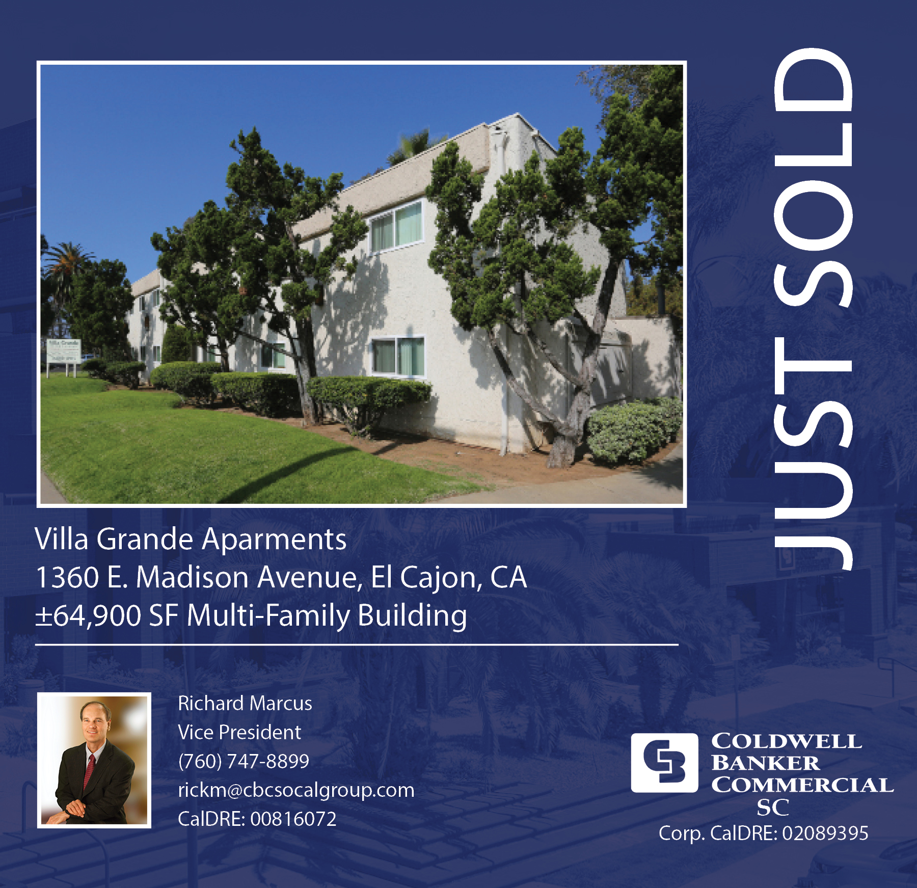 SOLD! by Rick Marcus a ±64,900 SF Multi-Family Building