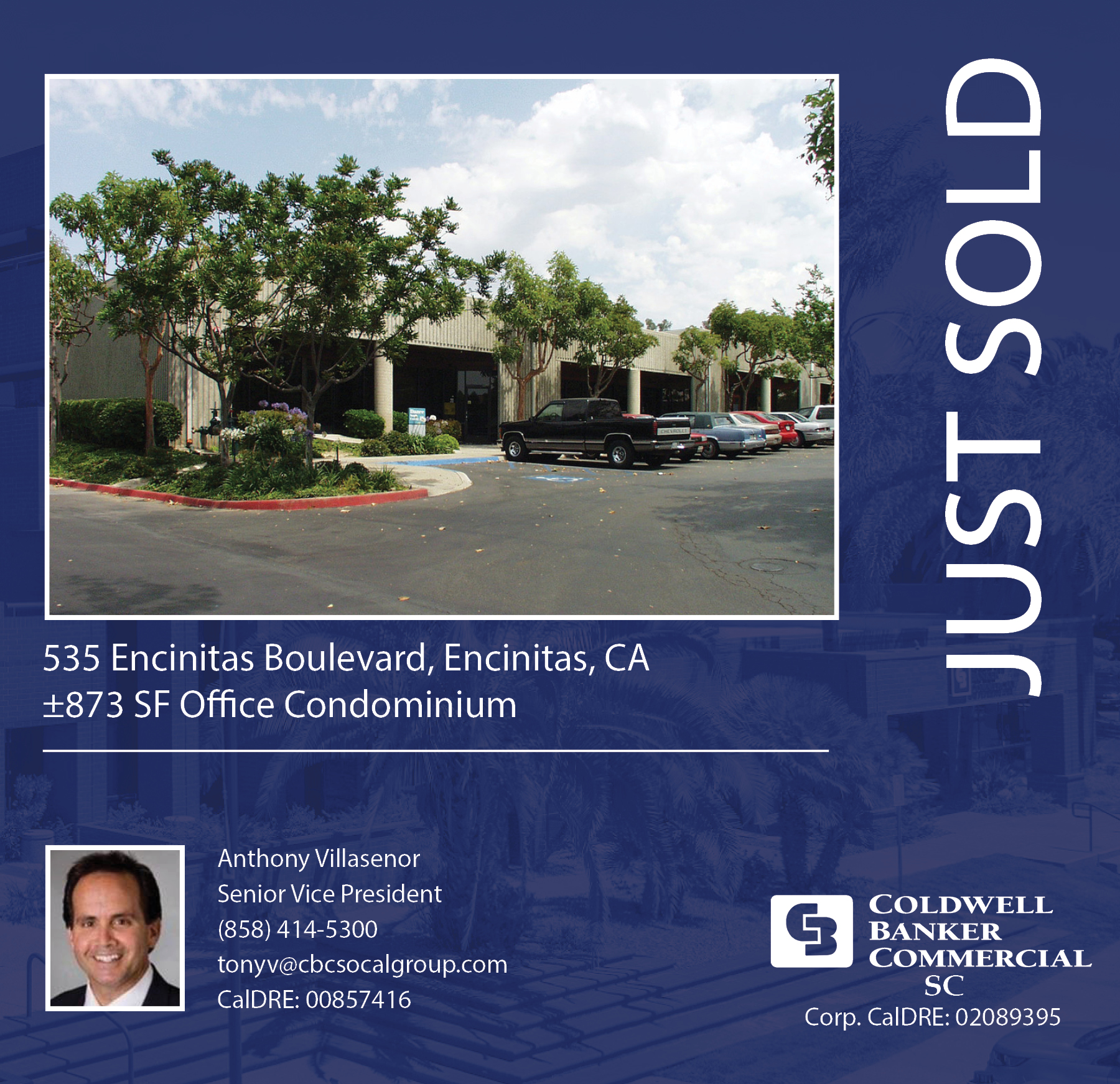SOLD! by Anthony Villasenor ±873 SF Office Condo